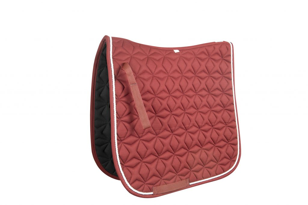 Burgundy dressage saddle pad super horse saddlery