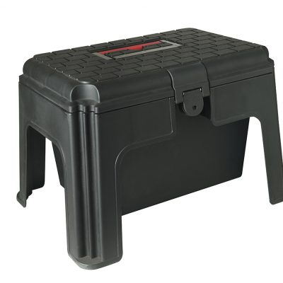 Black step up grooming box