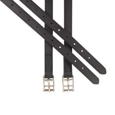 Black synthetic stirrup leathers