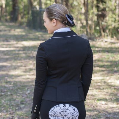 Black Breeches with White seat