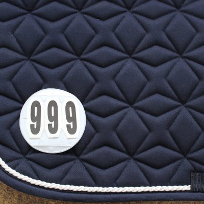 Three digit velcro competition number set.