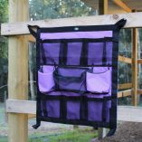 Small Purple and Black Grooming Caddie